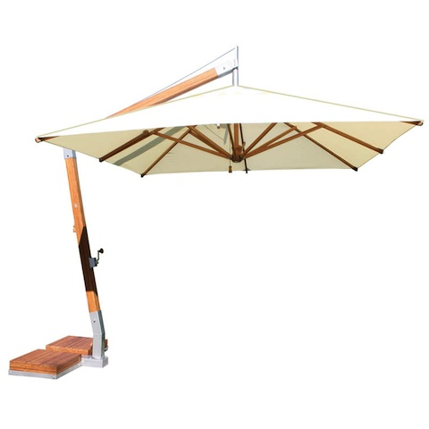 square 3m cantilever parasol large parasols. Black Bedroom Furniture Sets. Home Design Ideas