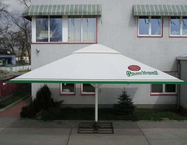 square 7m aluminium parasol large parasols. Black Bedroom Furniture Sets. Home Design Ideas