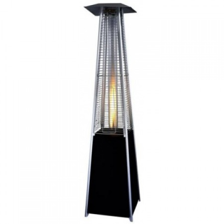 Black Pyramid Flame Tower Heater